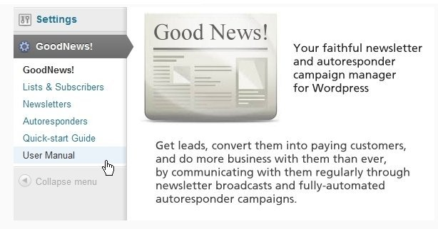 GoodNews Newsleeter and Autoresponder Manager